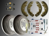 2x Brake Drum and Rear Brake Shoes Hardware Brake Wheel Cylinder Chrysler Voyager GS 1996 - 2000