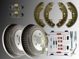 2x Brake Drum and Rear Brake Shoes Hardware Brake Wheel Cylinder Dodge Caravan 1996 - 2000