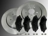 2 Bremsscheiben Keramik Bremsklötze vorne Jeep Cherokee 2007-2012 302mm Durchmesser