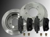 2 Bremsscheiben Keramik Bremsklötze hinten Dodge Avenger 2008-2014 262mm Bremsscheiben