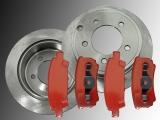 2 Bremsscheiben Bremsklötze hinten Dodge Avenger 2008-2014 262mm Bremsscheiben