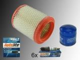 6 Platin Zündkerzen Luftfilter Ölfilter Inspektions Kit Chrysler Sebring 2001-2006
