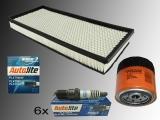6 x Platin Zündkerze Ölfilter Luftfilter Inspektions Kit Jeep Wrangler TJ 4.0L 1997-2006