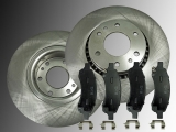 2 Front Brake Rotors ! 325mm Ceramic Front Brake Pads Chevrolet Trailblazer V8 5.3L 2006-2008