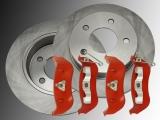 Rear Brake Rotors and  Rear Brake Pads Jeep Cherokee KJ 2002-2007