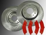 2 Bremsscheiben 325mm Satz Bremsklötze Vorne Chevrolet Trailblazer 2002-2005