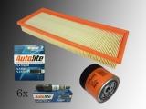 6 Zündkerzen Autolite Platin Ölfilter Luftfilter Jeep Wrangler YJ 4.0L 1991-1995