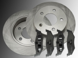 Rear Brake Rotors Ceramic Brake Pads Chrysler Sebring 2001-2006