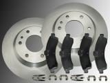 2 Bremsscheiben 305mm Keramik Bremsklötze vorne Chevrolet Trailblazer 2002-2005