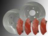 2 Front Brake Rotors Front Brake Pads Chevrolet Trans Sport 2WD 1997-2005