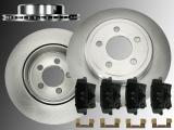 2x Rear Vented Brake Rotors Ceramic Rear Brake Pad Set Chrysler 300C 2005-2019