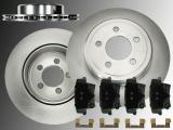 2x Rear Vented Brake Rotors and Rear Brake Pad Set Chrysler 300C 2005-2019