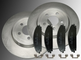 Front Brake Rotors 345 mm Ceramic Front Brake Pads Chrysler 300C 2005-2013