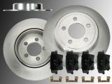Solid Rear Brake Rotors & Ceramic Brake Pads Chrysler 300C 2005-2013