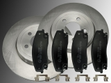 Front Brake Rotors 320mm Ceramic Front Brake Pads Chrysler 300C 2005 - 2010