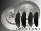 Front Brake Rotors and Front Brake Pad Set Chrysler 300C 2005 - 2012 345mm