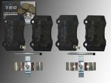 Ceramic Rear Brake Pads Jeep Grand Cherokee SRT8 2006-2010