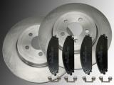 Front Brake Rotors 345mm Ceramic Front Brake Pads Chrysler 300C 2005-2010