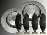Front Ceramic Brake Rotors Front Brake Pads Jeep Commander XK 2006-2010