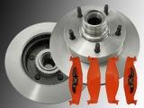 2x Bremsscheiben Satz Bremsklötze Vorne Ford E-150 Econoline mit ABS 1994-2003