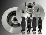 2x Bremsscheiben Keramik Bremsklötze Vorne Ford E-150 Econoline mit ABS 1994-2003