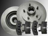 2 Front Brake Rotors with ABS ring Ceramic Front Brake Pads Dodge Ram 1500 Pickup 2WD 1994 - 1999