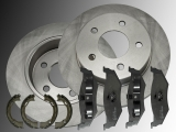 2x Rear Brake Rotors, Ceramic Rear Brake Pads and Parking Brake Shoes Chrysler Neon 1995-2005