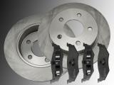 Rear Brake Rotors and Ceramic Rear Brake Pads Chrysler Stratus 1995-2000