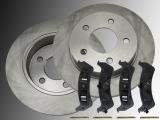 Rear Brake Rotors and Ceramic Rear Brake Pads Ford Explorer 4WD 1995-2001