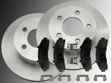 Front Brake Rotors and Ceramic Front Brake Pads Ford Ranger 4WD 1998-2002