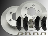 Front Brake Rotors and Ceramic Front Brake Pads Mercury Mountaineer 4WD 1997-2001
