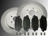 Rear Brake Rotors Ceramic Brake Pads Volkswagen Routan 2012 - 2014 Rotors 328mm  Outside Diameter