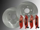 Front Brake Rotors 282mm Outside Diameter Front Brake Pads Chrysler Stratus 1995-2000