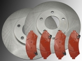 2 Front Brake Rotors and Front Brake Pads Pontiac Bonneville 2000-2005 Rotors 302.70mm Outside Diameter