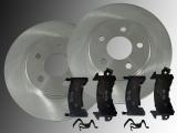 2 Bremsscheiben Keramik Bremsklötze hinten Cadillac Seville 1980-1985