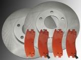 2 Bremsscheiben Bremsklötze hinten Pontiac Bonneville 2004-2005 297,6mm Scheibendurchmesser