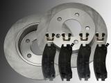2 Rear Brake Rotors Ceramic Brake Pads Chevrolet Trans Sport V6  2002-2005