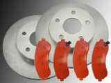 Front Brake Rotors and Brake Pads Chevrolet Trans Sport 3.4L 4WD 2002 - 2005