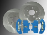 2 Front Brake Rotors Ceramic Front Brake Pads Pontiac Trans Sport 1990-1991