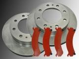 2 Bremsscheiben Bremsklötze vorne Chevrolet Silverado 2500 1999-2006