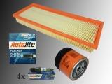 Inspektionssatz Luftfilter Ölfilter Platin Zündkerzen Dodge Caliber 2006-2012