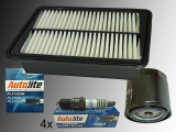 Oil Filter, Air Filter, 4x Platinum Spark Plug Jeep Wrangler 2.4L 2003-2006